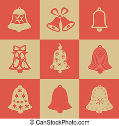 Bell vector simple single color icon Vector Illustration...