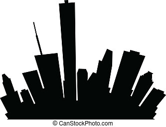 Cartoon Houston - Cartoon skyline silhouette of the city of...