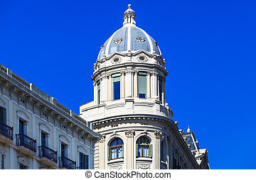 building with a cupola