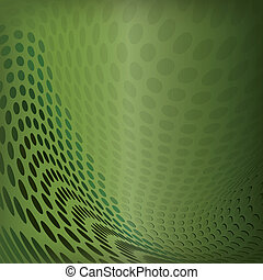 Background abstract green dots