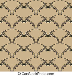 Vector art deco seamless pattern , web page background , texture for wallpaper ,vector illustration ,surface textures.