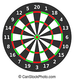 Dartboard. - Dartboard on white.