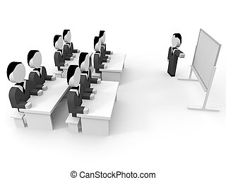 3D business people.