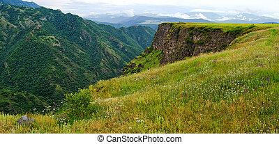 mountain spring in the mountains of Armenia