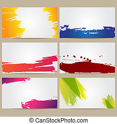 Business Cards with Blots