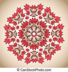 Ethno round pastel ornament - Ethno round pastel ornament...