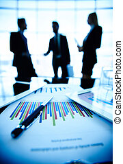 Business concept - Technological devices and financial...