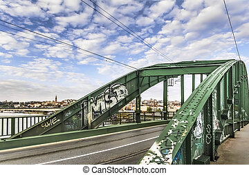 WWII Old Sava's Bridge - Photograph of renovated WWII Old...