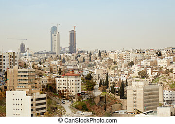 Amman skyline view in the morning - Amman city view of...
