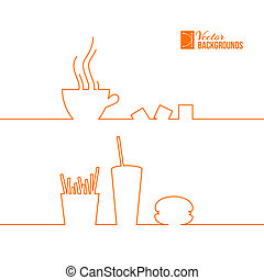 Fast food design. Vector illustration.