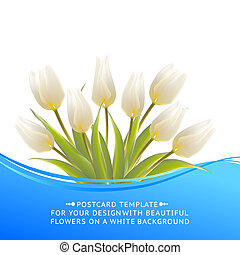 White tulip spring bouquet for sale.