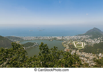 View over Rio and Aut?dromo Internacional Nelson Piquet