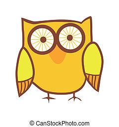 Cute owl. Vector bird.