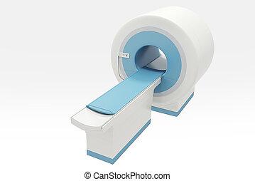 CT Scan Machine - digital illustraion of CT Scan Machine in...