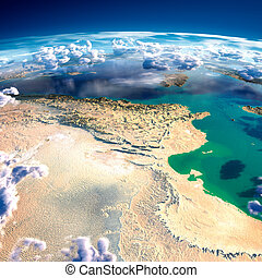 Fragments of the planet Earth. Tunisia - Highly detailed...
