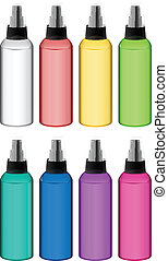 Collection of spray bottles - Illustration of the collection...