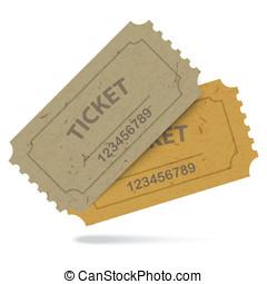 Admit One Vintage Paper Tickets