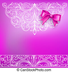 Background Bow and Ornamental Pattern