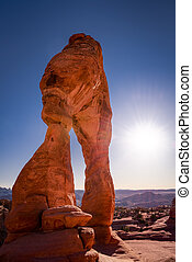 Delicate Arch, Late Afternoon View