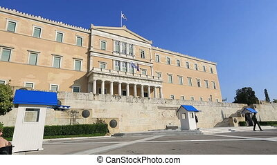 Parliament Building Capital Cities Athens in Greece