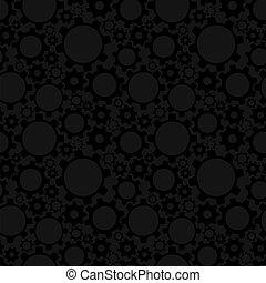 Gears, seamless pattern
