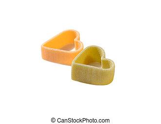 蔬菜, 麵食, 形狀, 心