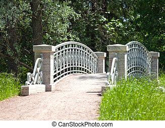 The small  bridge in park