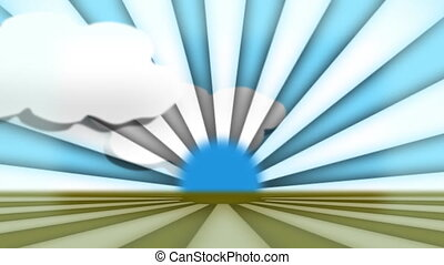 Spinning Wheel Clouds - Stock Animated Background of...