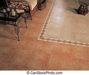 Ceramic floor - ceramic floor - linig room
