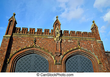 Friedland gate u2013 neo-gothic fortress 19th century...