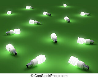Green light - Very high resolution rendering of energy...