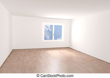 Empty room - Very high resolution rendering of an empty room
