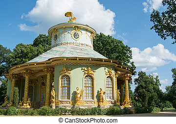 Overview of the Chinese house, Sanssouci. Potsdam. Germany -...