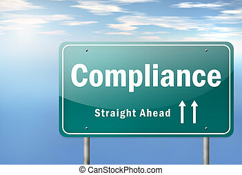 Highway Signpost Compliance - Highway Signpost with...