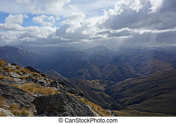 Remarkables mountain range - View to Remarkables mountain...