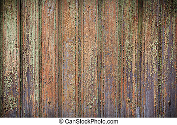 Old wooden painted and chipping paint - Old wooden painted...