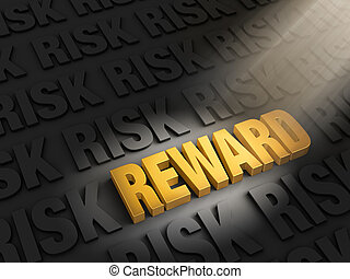Highlighting Rewards Versus Risk - A spotlight illuminates...
