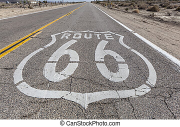 VIntage Route 66 Highway Sign - Vintage route 66 highway...