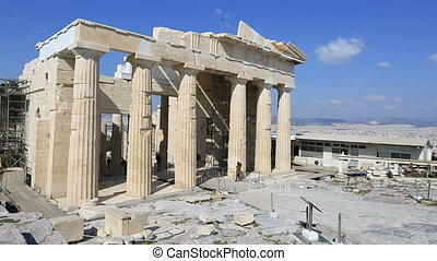 Ancient Acropolis - Tourist Visiting Ancient Acropolis in...