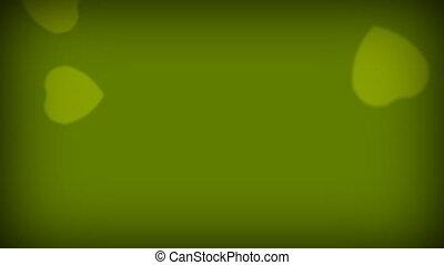 Love Hearts Green