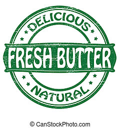 Fresh butter - Stamp with text fresh butter inside,vector...