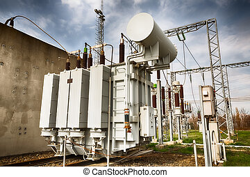 high-power station - a high voltage distribution equipment...