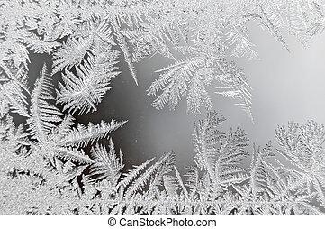 Ice flowers macro