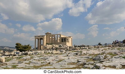 Ancient Acropolis in Athens Greece