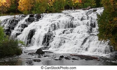 Cascading Lower Bond Falls Loop - Water cascades down the...