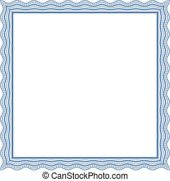 Square frame - Square frame, certificate, thickness of lines...
