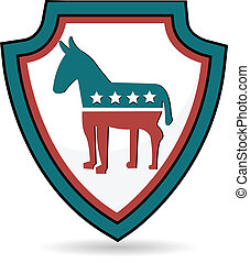 Shield Democrat logo symbol