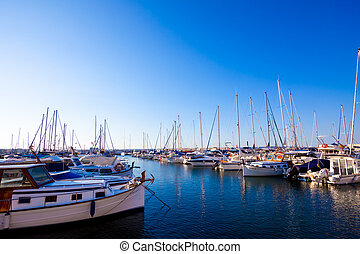 Boats at rest in the marina  - Boats at rest in the marina
