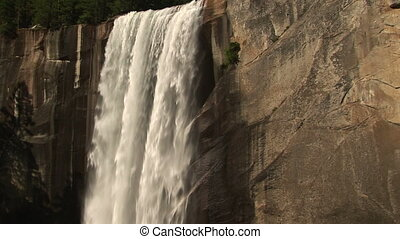 Vernal Falls, Yosemite National Park, California, zoom in