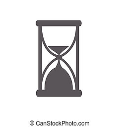 Hour glass vector illustration isolated on a white...